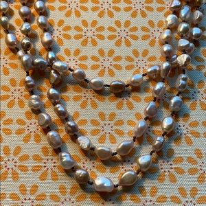Vintage Pink pearl necklace - Thailand